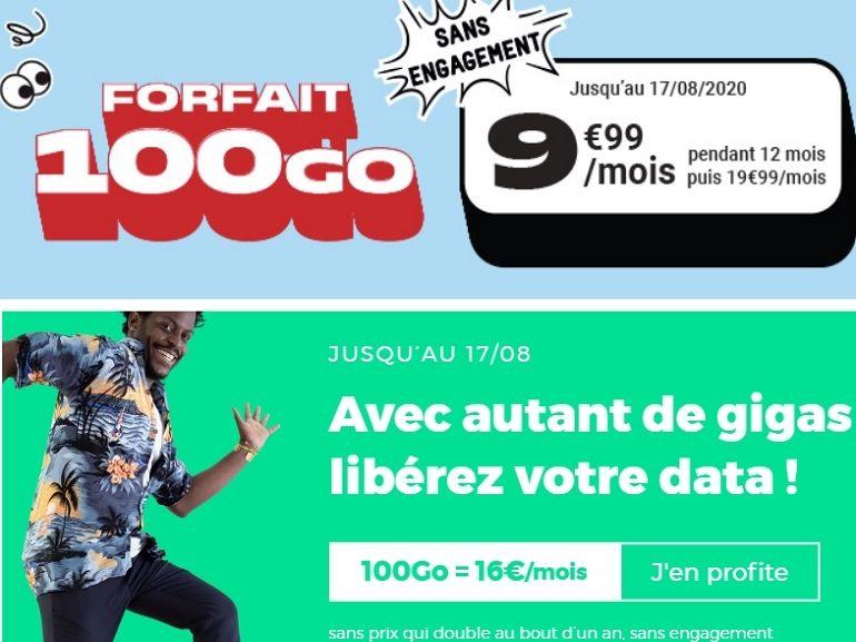 Forfait 100 Go A Partir De 10 Euros Derniers Jours Pour Red Sfr Et Nrj Mobile Qui Choisir Cnet France