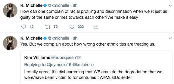 K. Michelle: Negative comments only come from Black women entertainment k michelle tweet 2