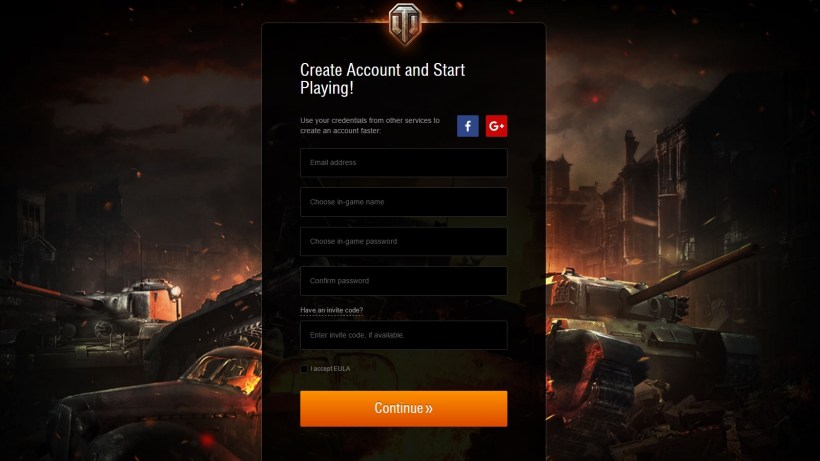 World Of Tanks Invide Codes Must Be Entered During The Account Creation Phase On Wargaming