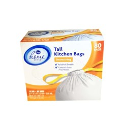Tall Kitchen Bags Pictures Of Sinks Kroger Home Sense Drawstring 13 Gallon Delivery
