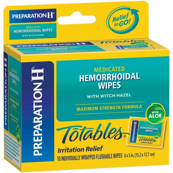 Preparation H Totables Medicated Hemorrhoidal Wipes with ...
