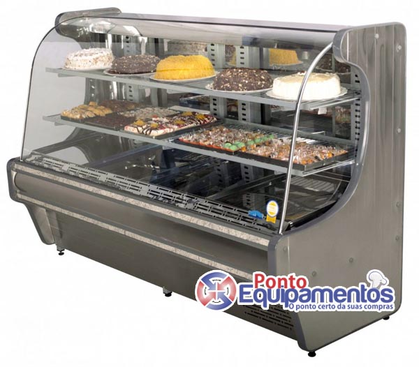 Balco Confeitaria Refrigerado Inox 150 mts Spazio  Klima