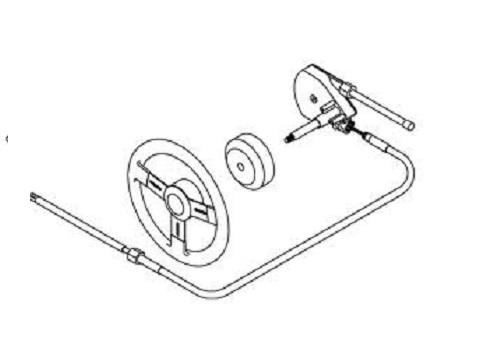 Caixa Direção Barco Teleflex Safe-t Motor de Popa até