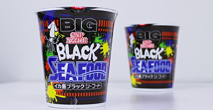 墨魚黑炫風來襲!日本話題十足的黑溜溜墨魚海鮮杯麵強勢登場   樂吃購!日本