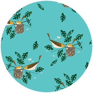 Charley Harper Red Eyed Vireo fabric