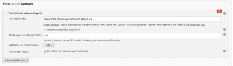 fetch generated JUnit reports