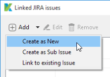 Create new Jira ticket