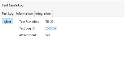 The information regarding qTest Integration