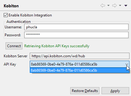 information for Kobiton integration