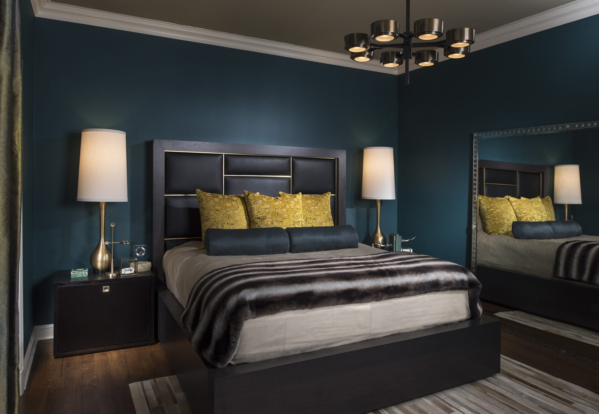 Richly Colored Dark Bedroom Designs Chairish Blog