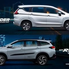 Grand New Avanza Vs Mitsubishi Xpander Upgrade Head To Comparison Toyota Rush