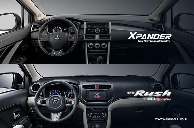 grand new avanza vs mitsubishi xpander all kijang innova modifikasi head to comparison toyota rush
