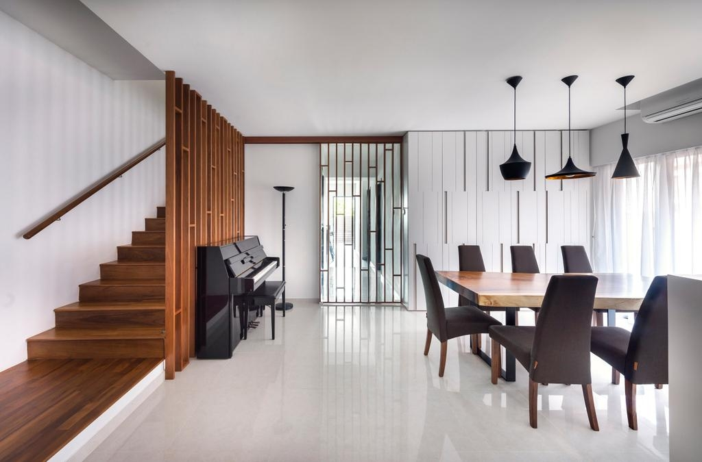 Living Room Interior Design Singapore Interior Design Ideas   Partition Of Stairs In Living Room   Lobby   Storage   Open Plan   Divider   Wood Paneling