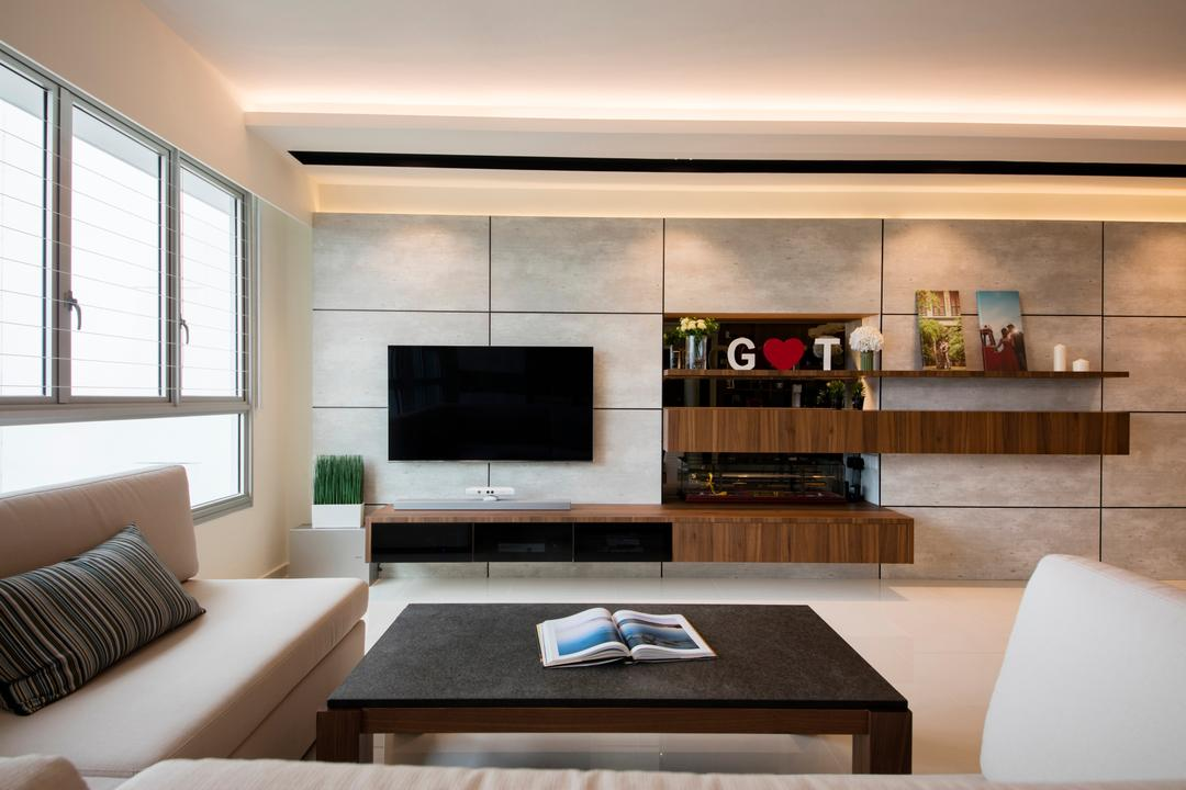 tv console interior design singapore
