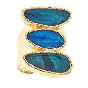 Margaret Elizabeth Jewelry 3 Stone Opal Ring (Agean)
