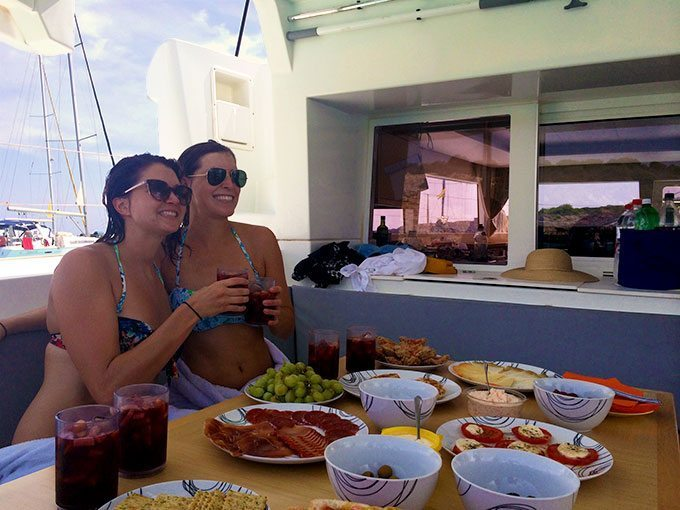 Lunch on the Hawk Eye in Mallorca