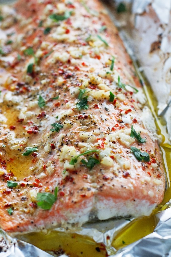 5 ways to cook salmon in tin foil | Garlic Butter Salmon in Foil