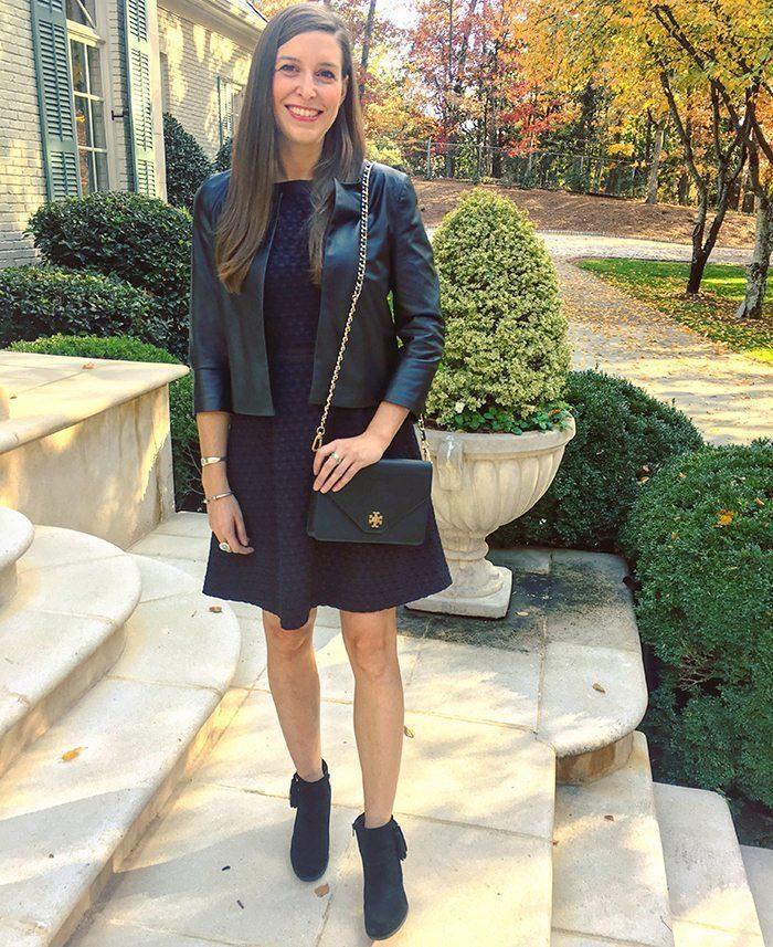 Tweed & Leather Holiday from day to night outfit   Blue Mountain Belle