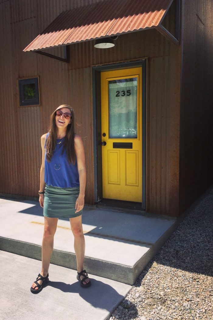 Patagonia Skort, Old Navy Top, Chacos and H&M sunglasses