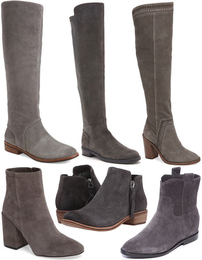 Gray Boots for Fall