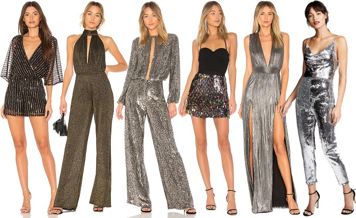 New Years Outfit Ideas - Sequin Jumpsuits and Dresses