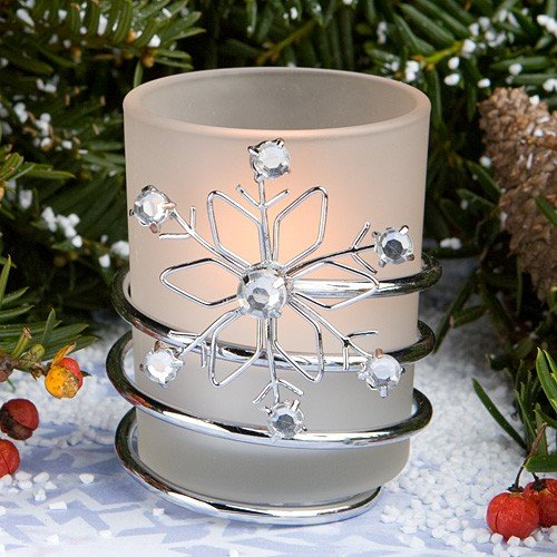 Snowflake Candle Wedding Favors