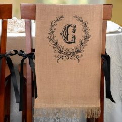 Chair Covers Wedding Costs How To Make For Classroom Burlap (set Of 2 - 5 Design Options)