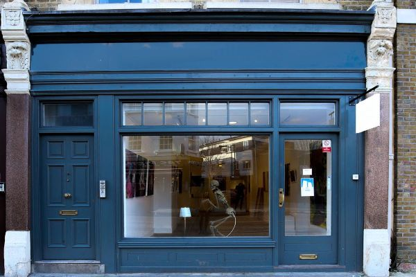 Sleek Art In Shoreditch Storefront