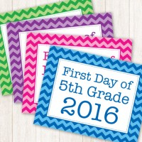 Free First Day of School Sign Printables - 24/7 Moms