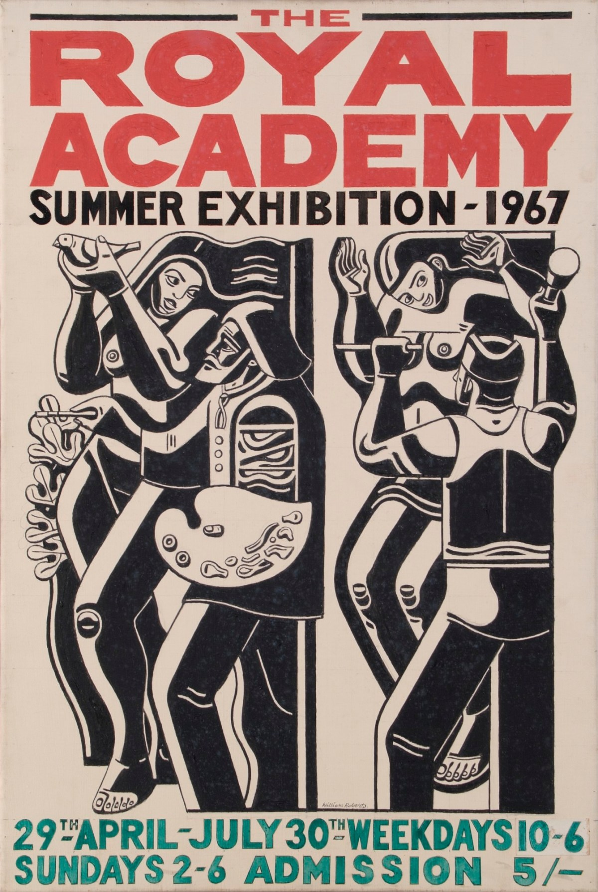 Royal Academy Summer Exhibition : royal, academy, summer, exhibition, Design, Royal, Academy, Summer, Exhibition, Poster,, Works, Collection