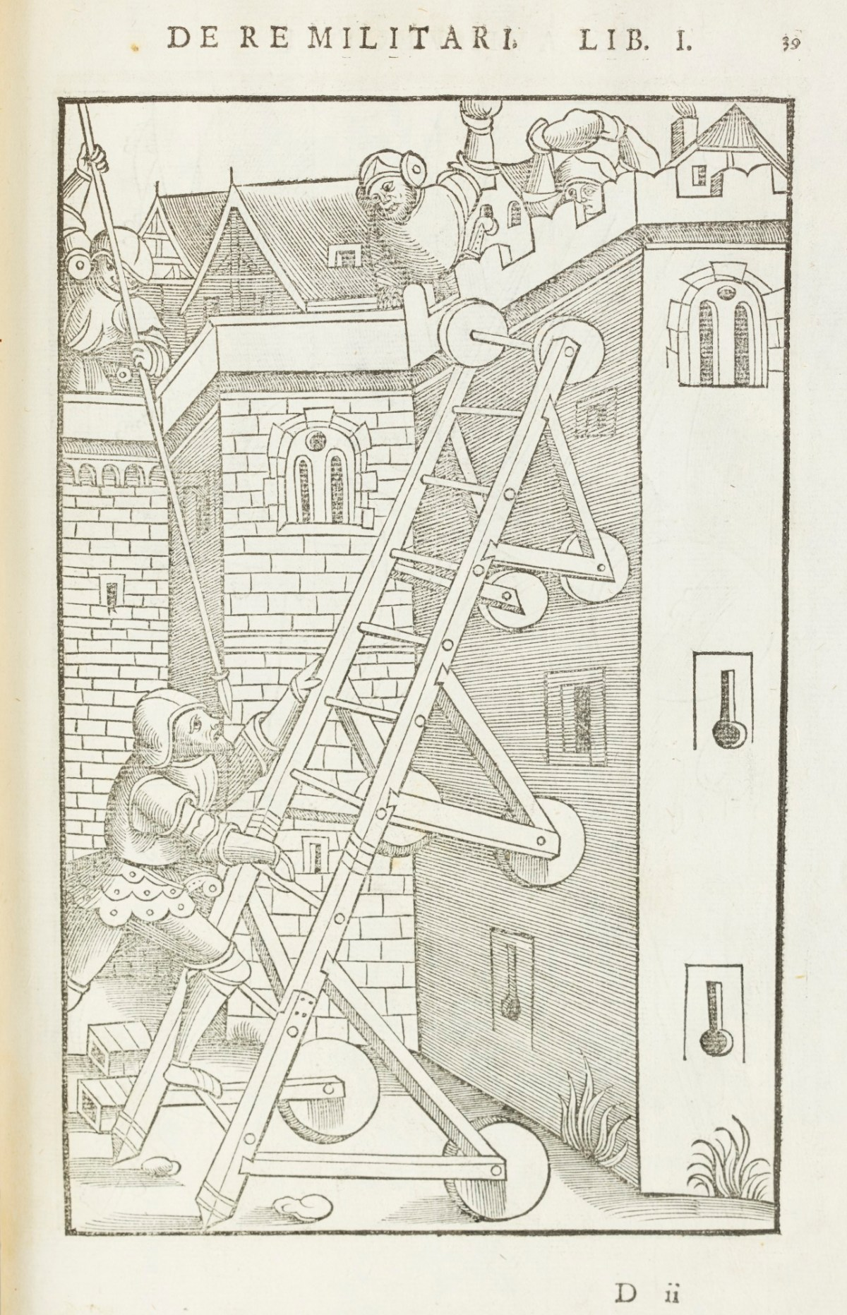 Siege Ladder : siege, ladder, Medieval, Siege, Ladder, Works, Collection, Royal, Academy