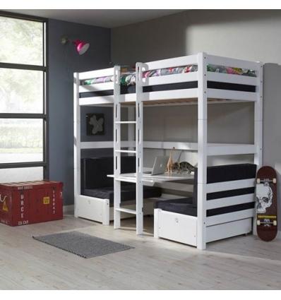 lit superpose avec bureau zeus