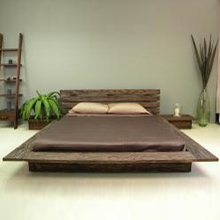 Asian Canopy and Platform Bed Frames  Eco Friendly Styles