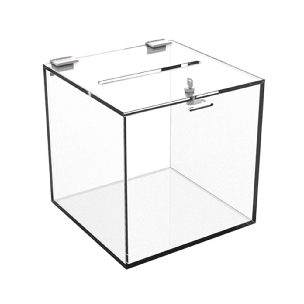 Clear Acrylic Locking Suggestion Box, Comment Box