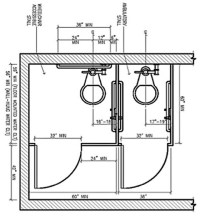 ADA Bathroom Layout | Commercial Restroom Requirements and ...