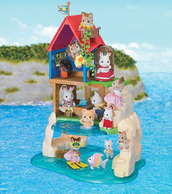 Calico Critters Playhouse Secret Island