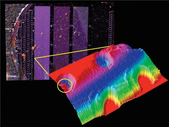 £-D image of a dust grain from Phoenix's Atomic Force Microscope. Credit: NASA/JPL/Caltech/U of Arizona/U of Neuchatel