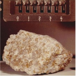 Rock from Apollo 17. collected by Harison Schmidt