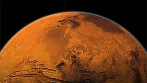 Desde el principio, Marte tuvo enormes volcanes activos, que han dado a conocer metano significativo.  Debido al potencial de efecto invernadero del metano alta, incluso una fina atmósfera podría haber soportado el agua líquida.  Crédito: NASA