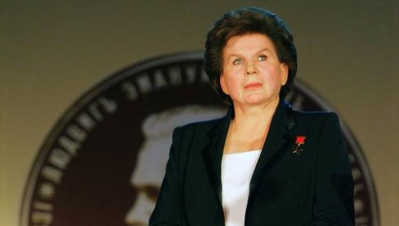 Valentina Tereshkova hoy a los 76 años - listo para una misión a Marte.  Crédito: RIA Novosti