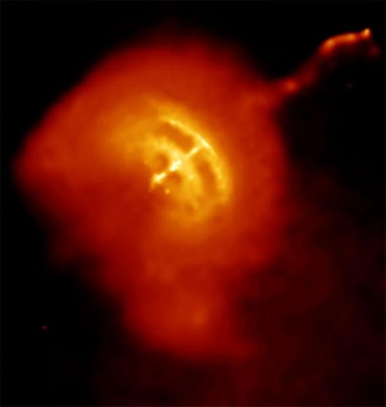 Una imagen de rayos x del pulsar de Vela, uno de los más brillantes púlsares de milisegundo conocidos.  Crédito: NASA / CXC / PSU / G.Pavlov et al.