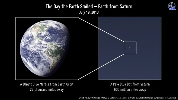 View Earth From Saturn