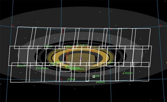 Arreglo de mosaico completo adquirido por Cassini el 07 19 al 20 UTC.  (NASA / JPL-Caltech / SSI)