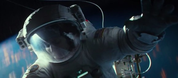 "El último trailer de ""Gravity"", muestra la intensidad de un accidente en órbita.  (© Warner Bros. Productions)"