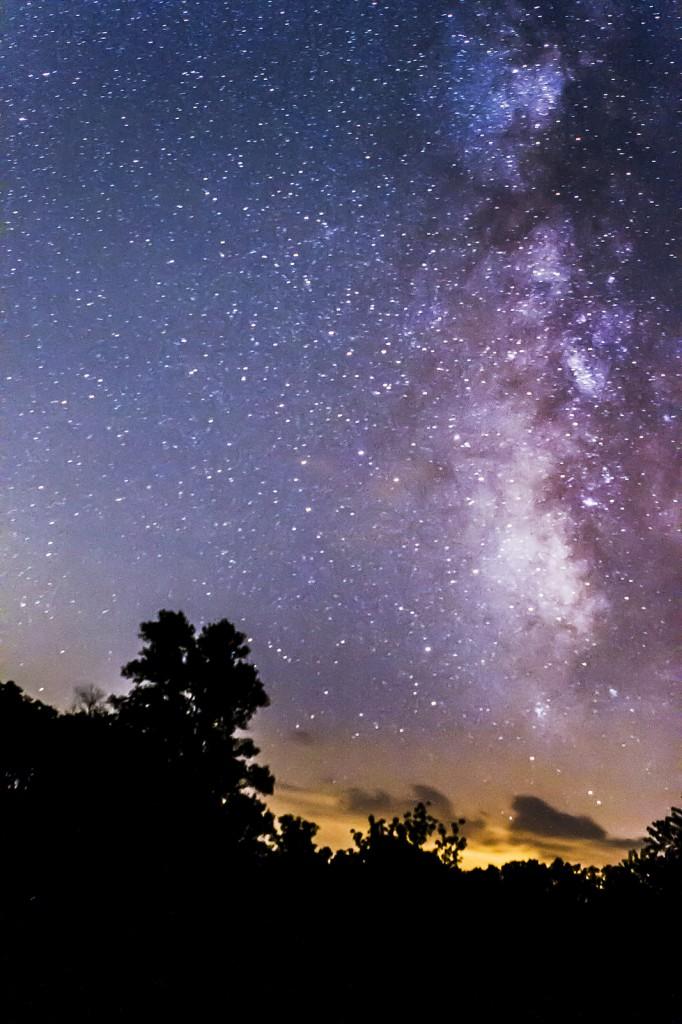 Arcos de la Vía Láctea más de Jim Edgar Panther Creek State Park en el centro de Illinois.  Crédito y copyright: Ben Romang.
