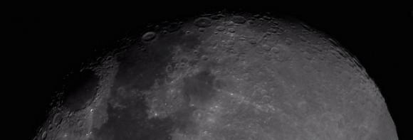 Lunar terminador mosaico, 26 de agosto 2013.  Crédito y copyright: Russell Bateman.