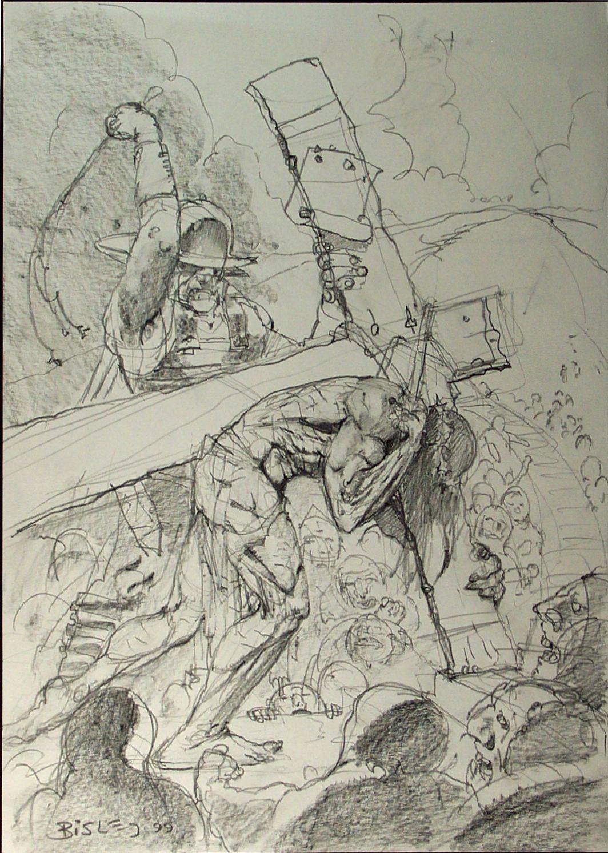 Jesus Crucifixion Pencil Drawings