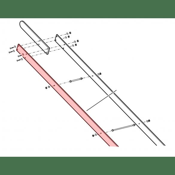 Linear / Osco 2100-496 Wood Arm Extension, 1