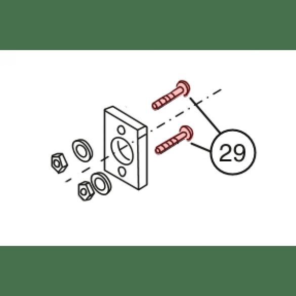 Linear / Osco 2400-178 Carriage Bolt (3/8