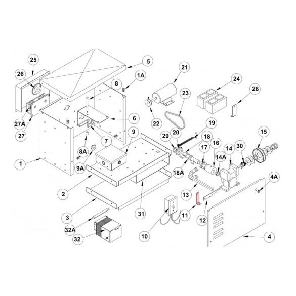 Linear / Osco 2100-1775 Latch Handle Fulcrum Bracket